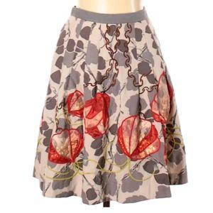 Floreat Pleated Skirt W Gorgeous details, 6, rare